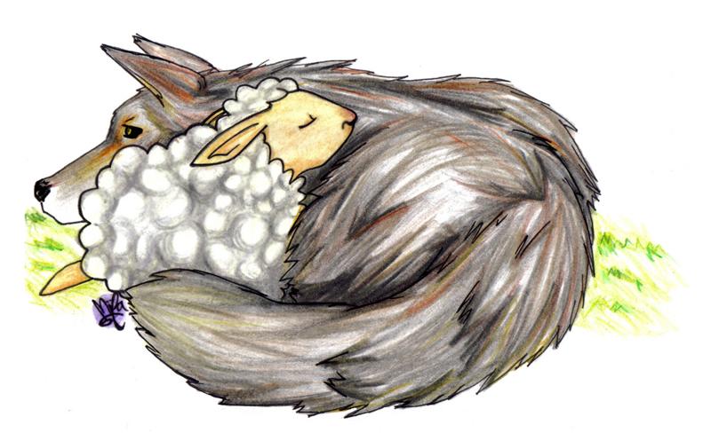 Relacionar con imagenes - Página 5 Ovejita-y-lobo