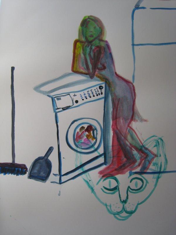 Follando en la lavandera - Porno Amateur y casero XXX
